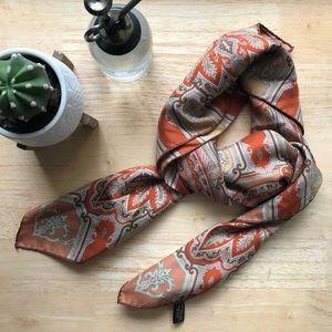 Ostinelli Paisley Scarf, Como Italy, 100% Silk